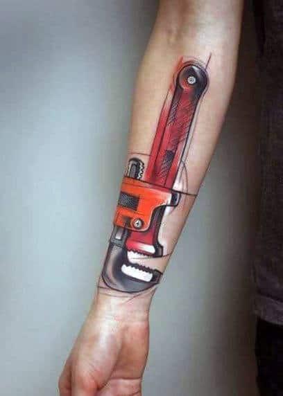 Unique Mens Plumbing Tattoos