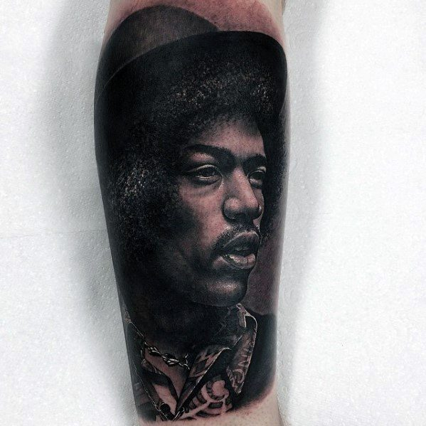 Unique Mens Portrait Tattoos On Forearm