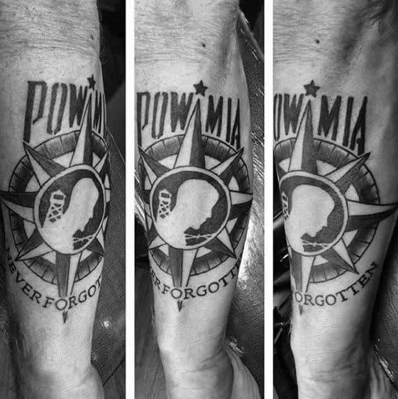 Unique Mens Pow Mia Tattoos