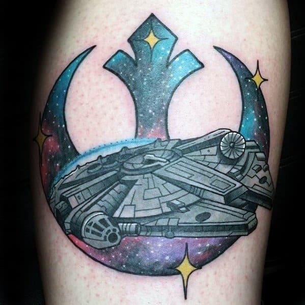 Unique Mens Rebel Alliance Tattoos