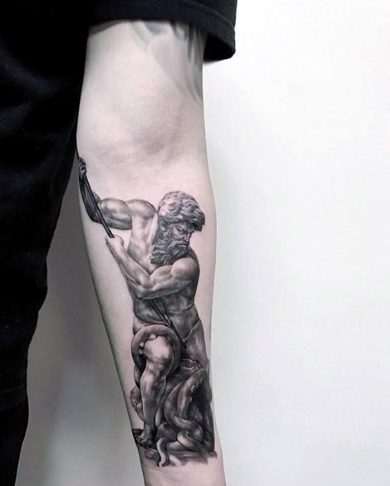 Unique Mens Roman Statue Tattoos