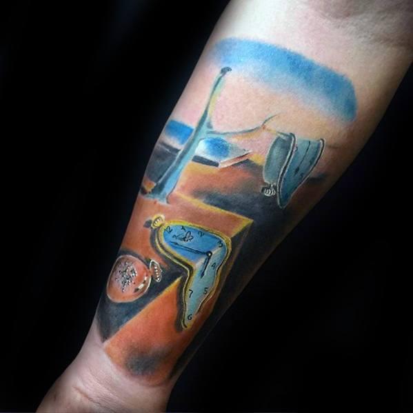 Unique Mens Salvador Dali Tattoos