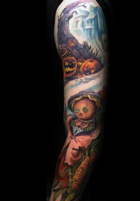 Unique Mens Scarecrow Tattoos