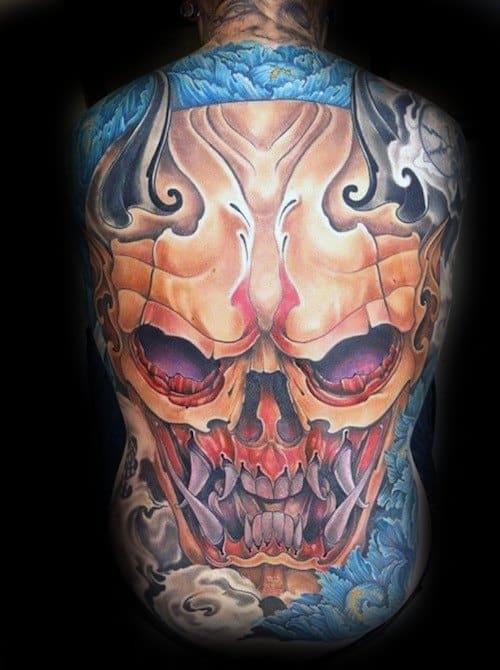 Unique Mens Skull Back Tattoos