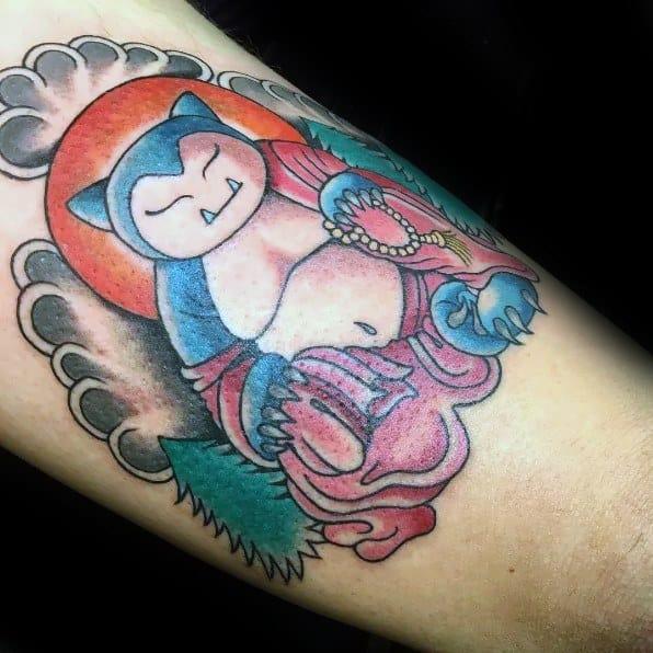Unique Mens Snorlax Tattoos