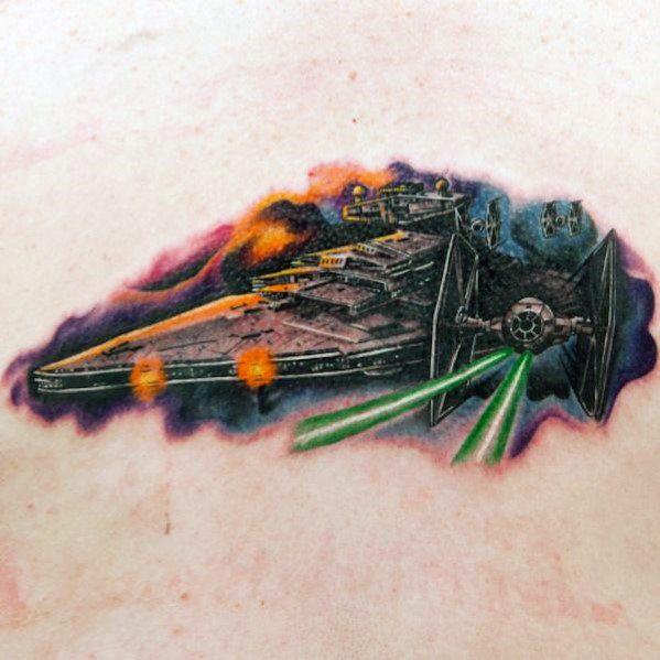 Unique Mens Star Destroyer Tattoos