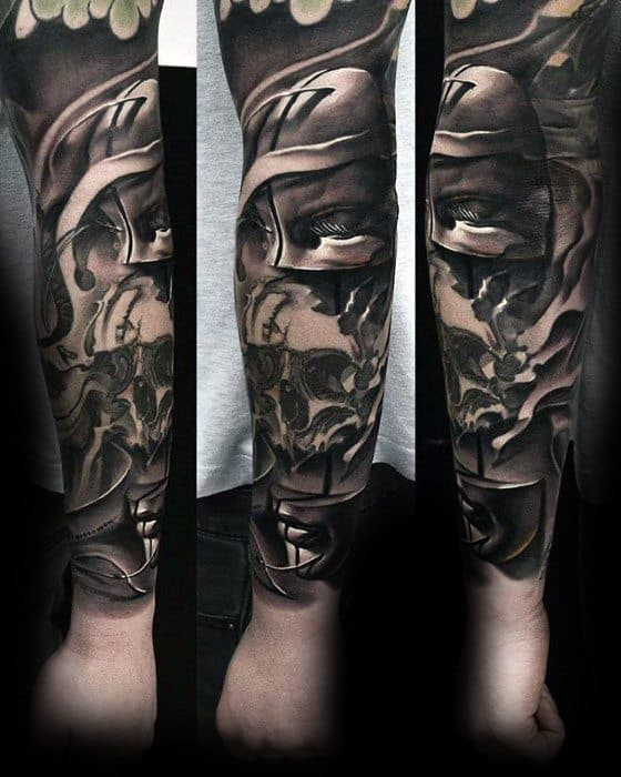 Unique Mens Surrealism Tattoos