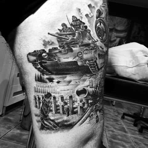 60 Tank Tattoos For Men Armored Vehicle Ink Ideas