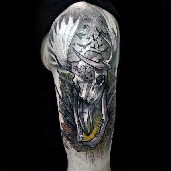 Unique Mens Witcher Tattoos
