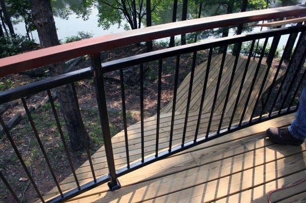 Unique Metal Deck Railing Designs