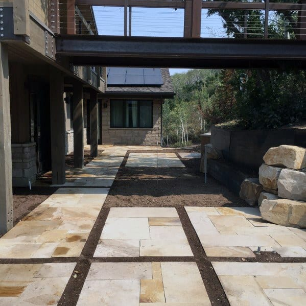 Unique Modern Flagstone Patio Home Ideas