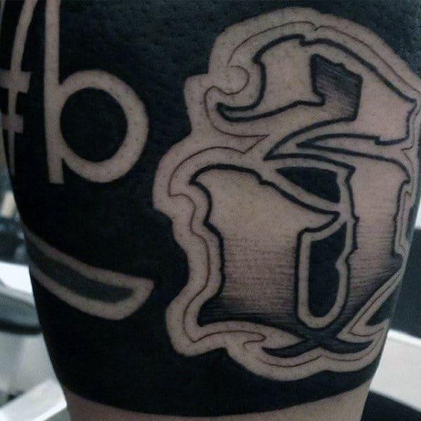 Unique Numbers Masculine Mens Arm Tattoo Designs