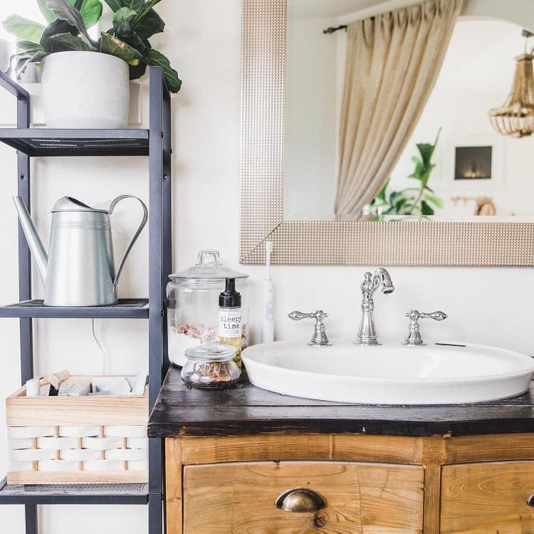 Unique Open Shelves Farmhouse Bathroom Vanity Janayarobinson