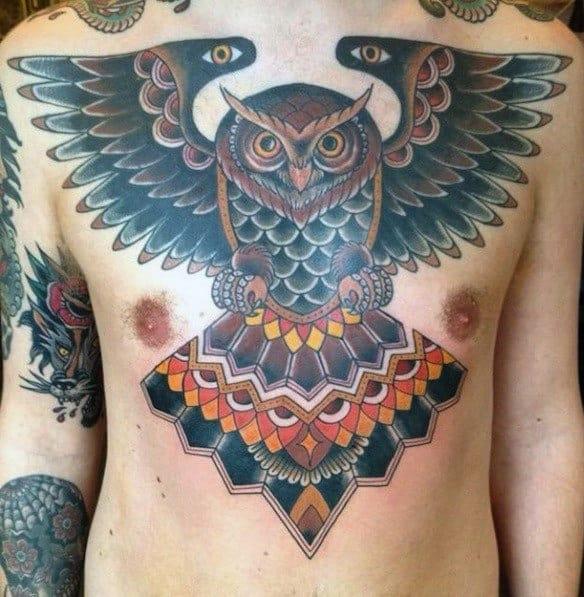 Unique Owl Tattoos For Men
