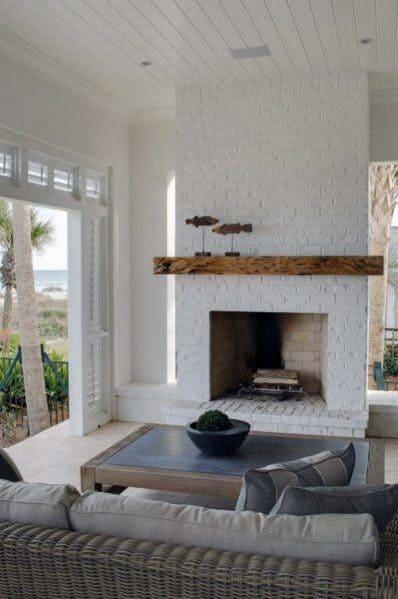 Unique Painted Fireplace Designs