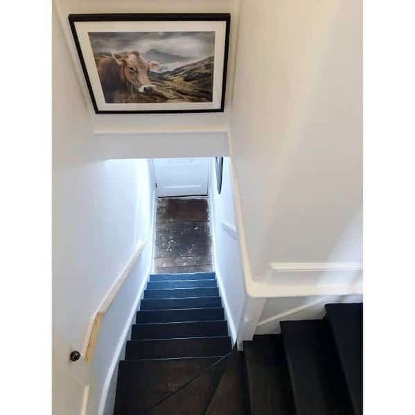 Unique Painted Stairs Home Ideas Black