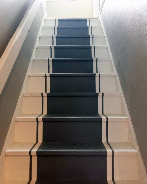 Unique Painted Stairs