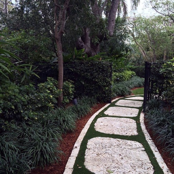 Unique Path Stepping Stone Walkway Ideas
