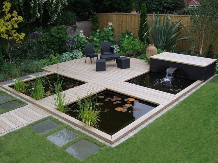 Unique Patio Backyard Garden Pond