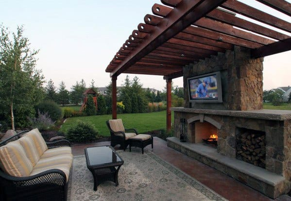 Unique Patio Fireplace Home Ideas