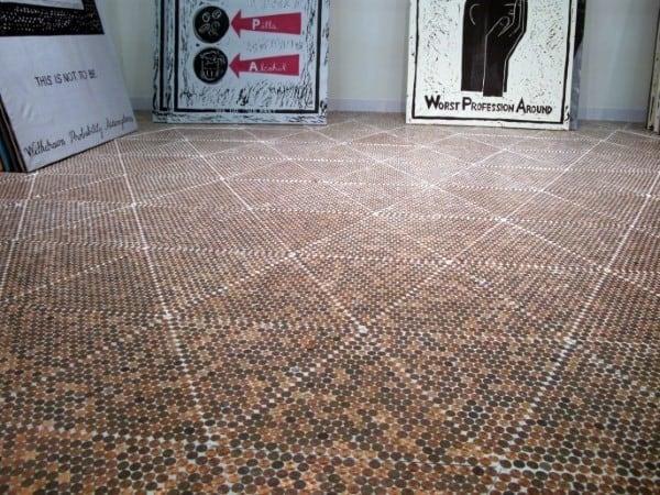 Unique Pattern Penny Floor