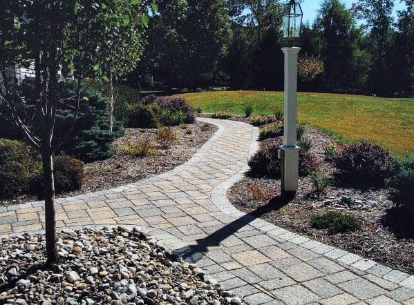 Unique Paver Walkway Grey Stones
