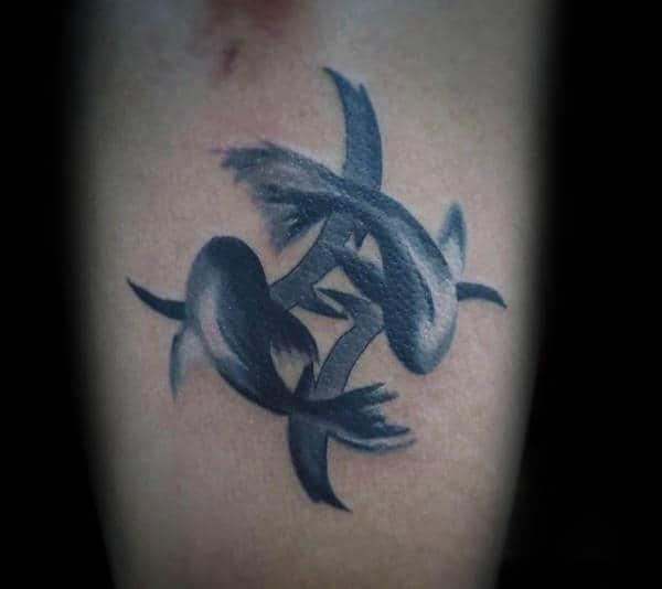 Unique Pisces Fish Guys Chest Watercolor Tattoos