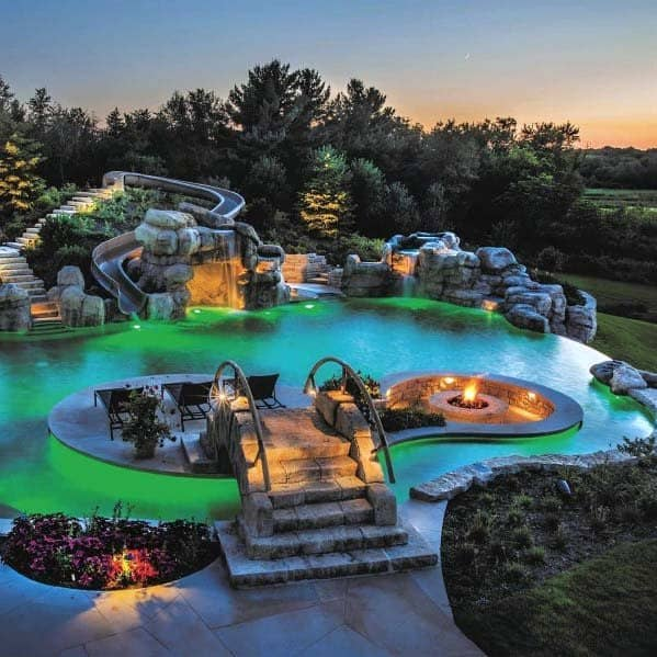 Top 60 Best Pool Waterfall Ideas Cascading Water Features