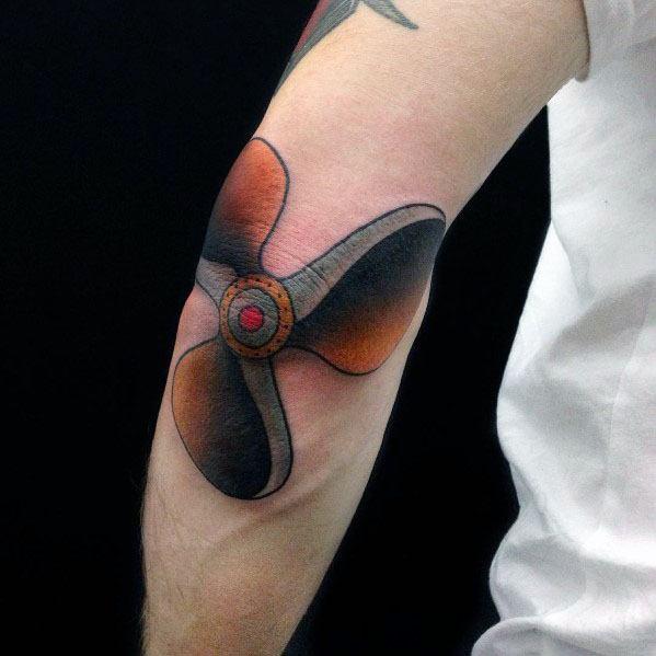 Unique Propeller Tattoos For Men