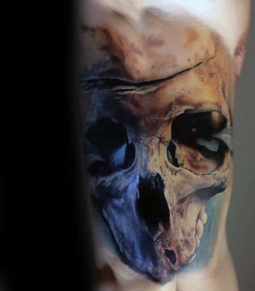 Unique Realistic Skull Inner Arm Bicep Tattoo Ideas For Men