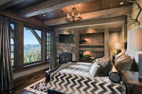 Uniques Rustique Chambre à coucher des Idées