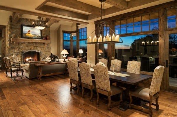 Unique Rustic Dining Room Ideas