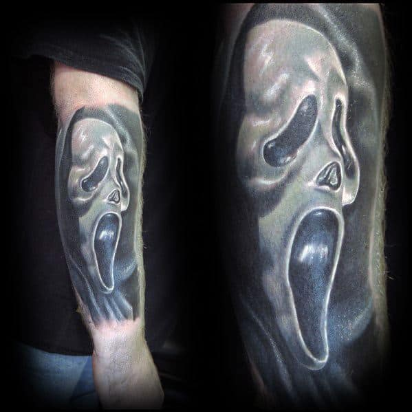 Unique Scary Movie Tattoos For Men