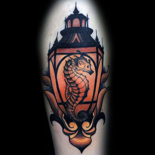 Unique Seahorse Tattoos For Men