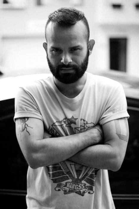 Unique Short Mens Beard Styles