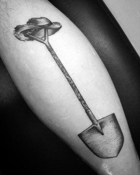 Unique Shovel Tattoos For Men