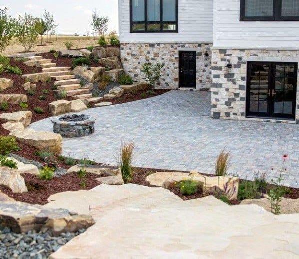 Unique Slope Landscaping Designs Backyard Patio