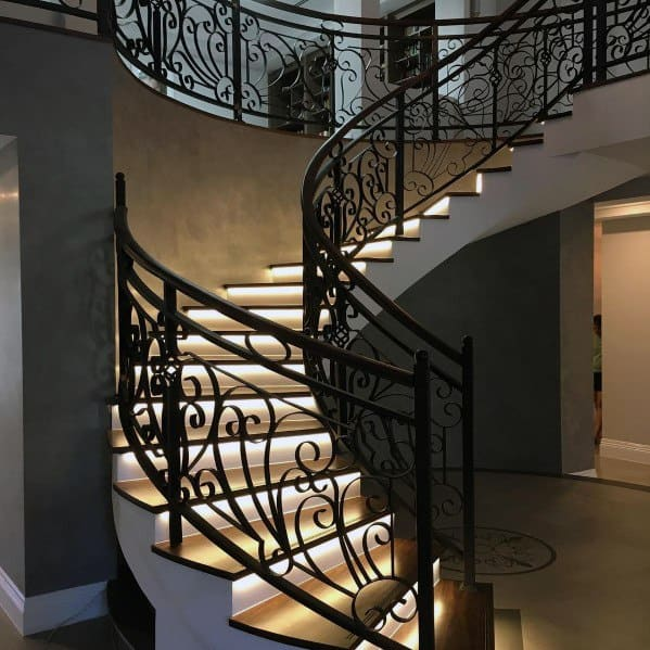 Unique Staircase Lighting Home Ideas