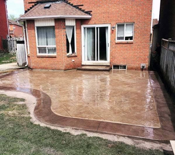 Unique Stamped Concrete Patio