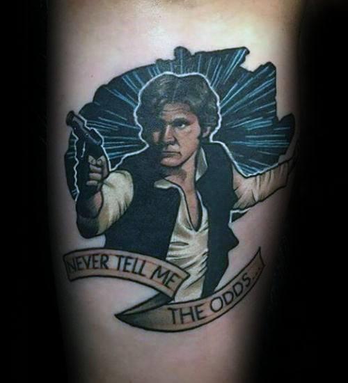 Unique Star Wars Mens Han Solo Tattoos On Forearm