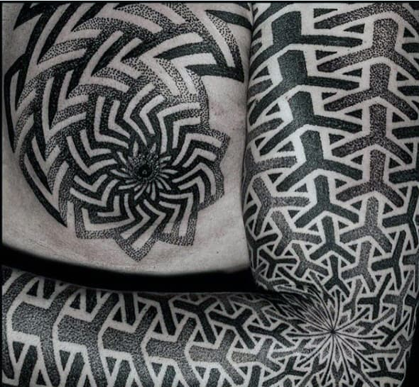 Unique Tattoos For Men With Geometric Pattern Design