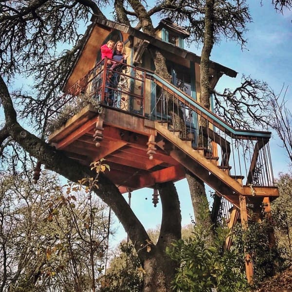 Unique Treehouse Ideas With Stairs
