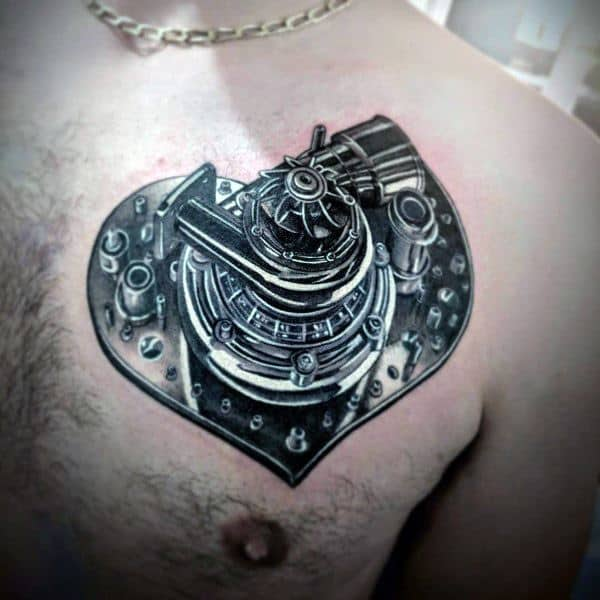Unique Turbo Tattoos For Men