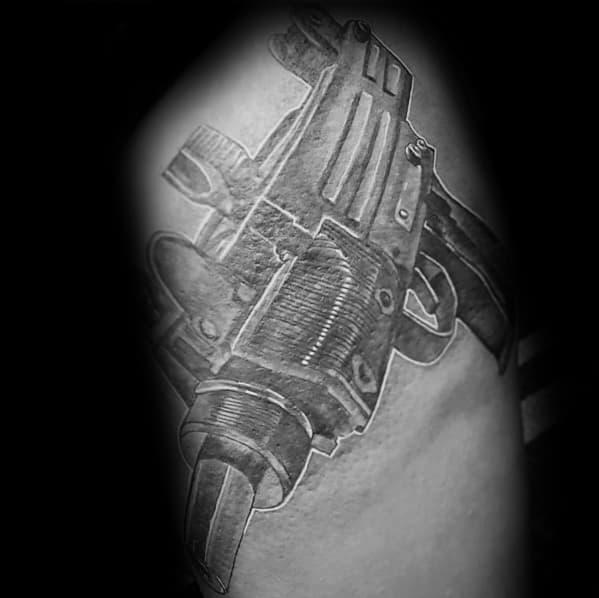 Unique Uzi Tattoos For Men