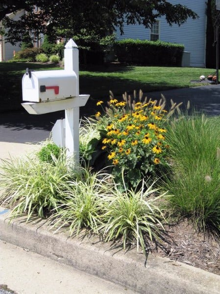 Unique White Mailbox Landscaping Designs