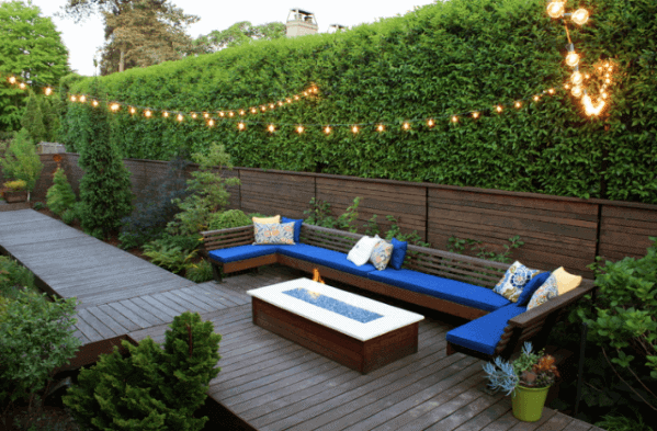 Unique Wood Deck Walkway And Patio String Light