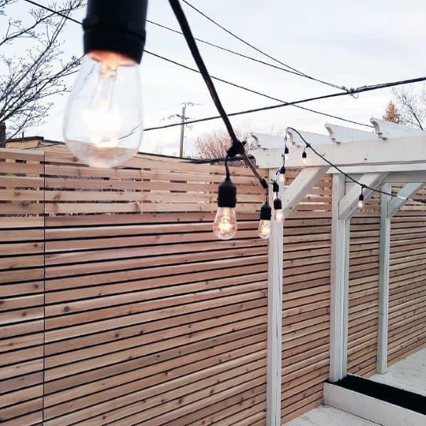 Unique Wood Slat Board Modern Fence