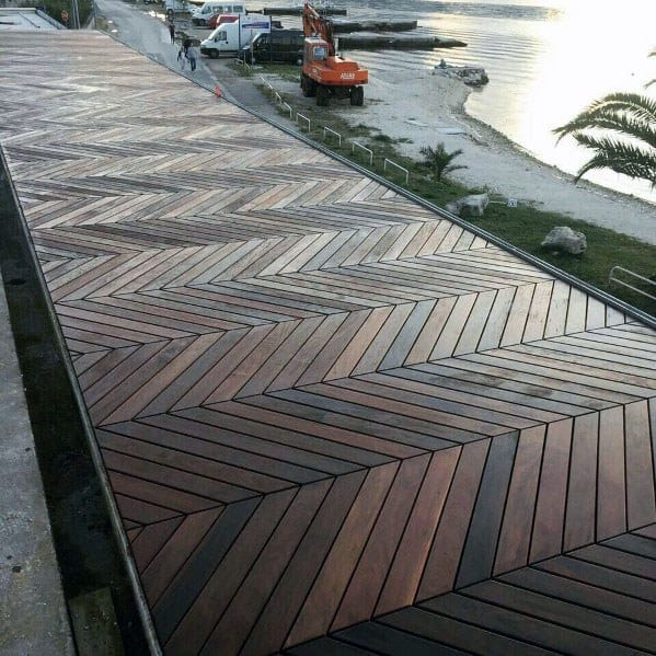 Unique Wooden Walkway
