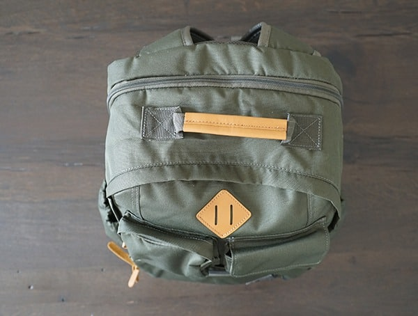 United By Blue Arid Backpack Top View