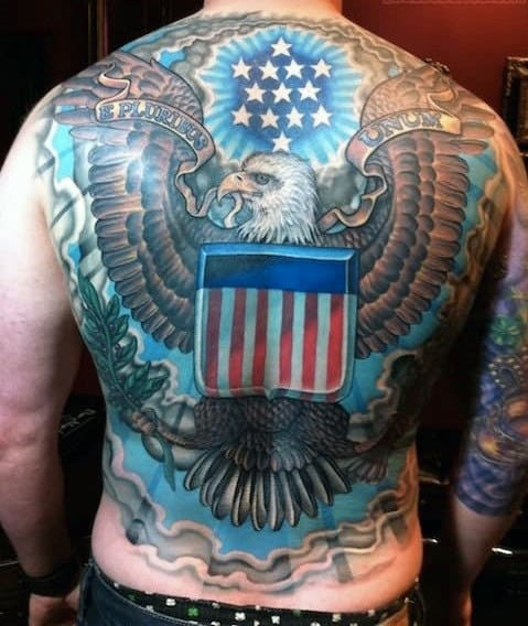 90 Patriotic Tattoos For Men - Nationalistic Pride Design ...
